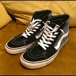Vans SK8 Hi Navy/Black Shoes Men's 9.5